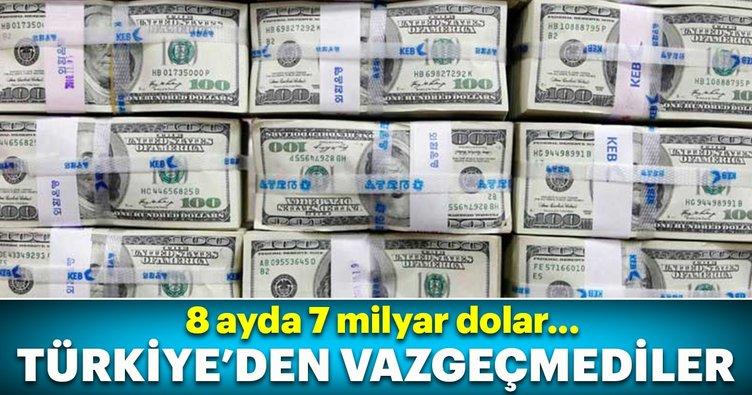 Türkiye'ye 8 ayda 7 milyar dolar yabancı yatırım girdi!