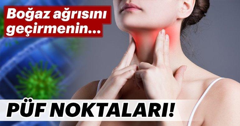 Boğaz ağrısını geçirmenin püf noktaları