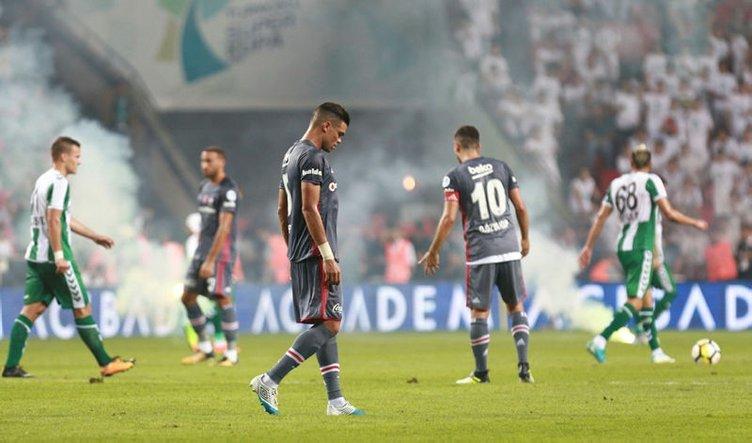 Olaylı Beşiktaş - Konyaspor maçının temsilci raporu ortaya çıktı!