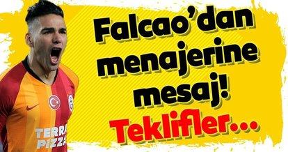 Falcao'dan menajerine transfer cevabı!