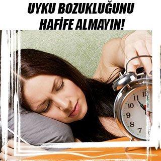 Uyku bozukluğunu hafife almayın!