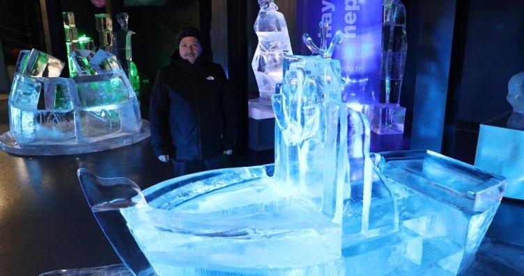 Akın akın geliyorlar! Buzun sanata dönüştüğü müze...