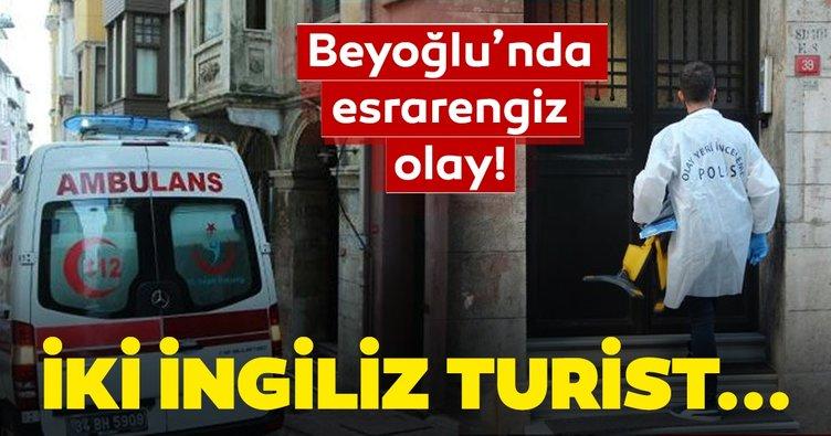 Son dakika haberi: Taksim'de otel odasında 2 İngiliz ölü bulundu!