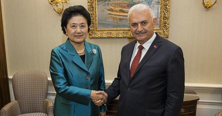 Başbakan Yıldırım, Liu'yu kabul etti!