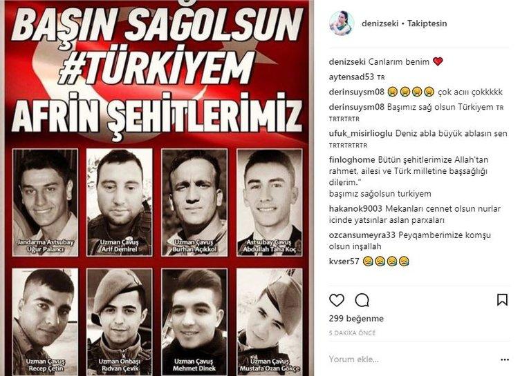 Afrin'den gelen şehit haberleri ünlü isimleri yasa boğdu!