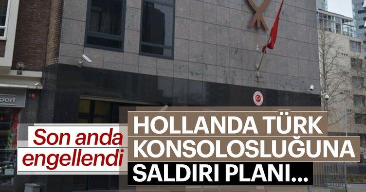 Hollanda'da Türk konsolosluğuna sladırı planı engellendi