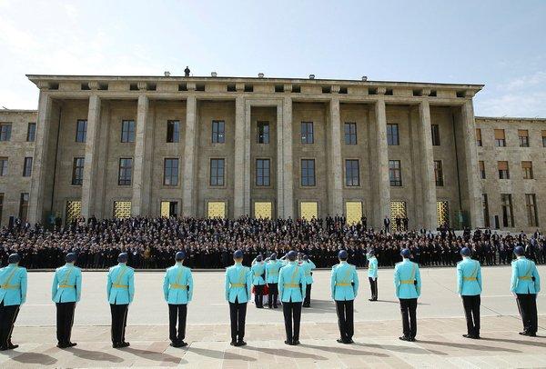 Hasan Celal Güzel'e TBMM'de tören düzenlendi! İşte o veda kareleri