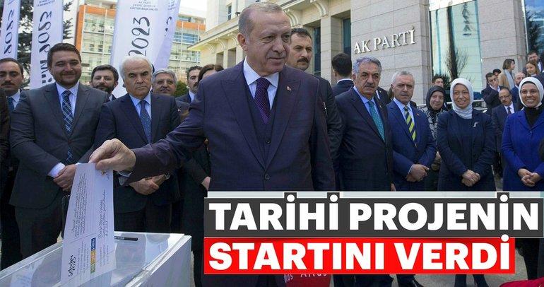 Cumhurbaşkanı Erdoğan, Şehrim 2023 projesine start verdi