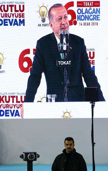 Cumhurbaşkanı Erdoğan'ın konuşma yaptığı salonda ilk kez kullanıldı!