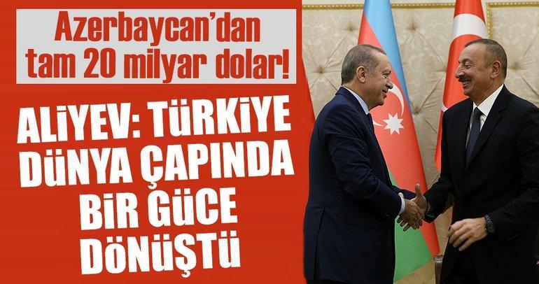 Aliyev: Türkiye dünya çapında güce dönüştü
