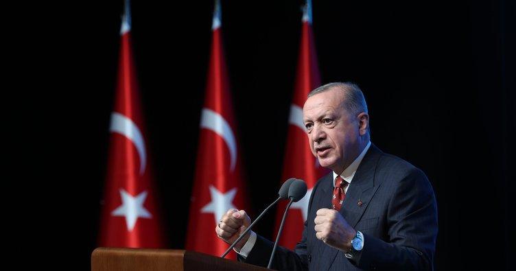 Son dakika: Başkan Erdoğan: Özgürlüğümüze vurulmak istenen prangaları parçalayıp attık