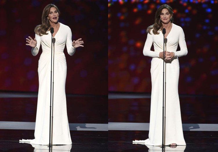 Caitlyn Jenner olarak ödülünü aldı
