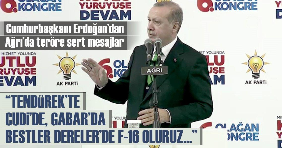 Cumhurbaşkanı Erdoğan'dan Ağrı'da teröre sert mesajlar