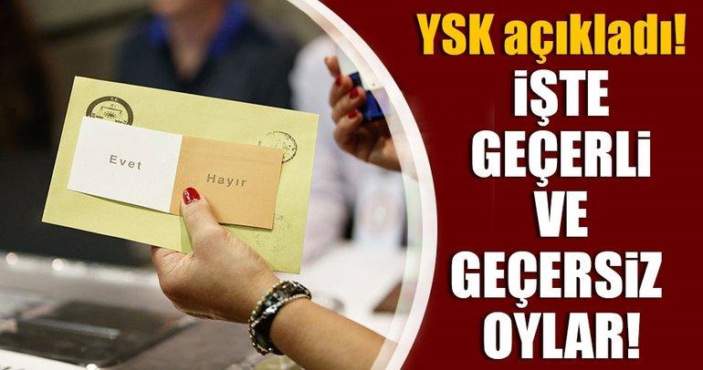 YSK açıkladı! İşte geçerli ve geçersiz sayılacak oylar