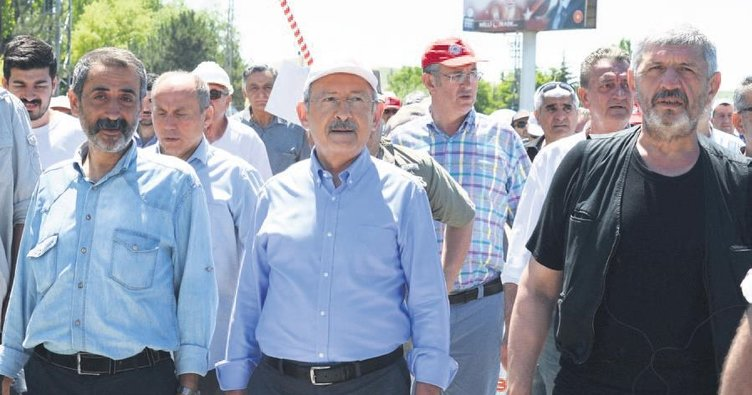 Kılıçdaroğlu yürüyüşün ikinci günü yoruldu