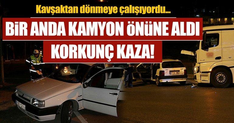 Karabük'te feci kaza! Kamyon ile otomobil çarpıştı: 5 yaralı