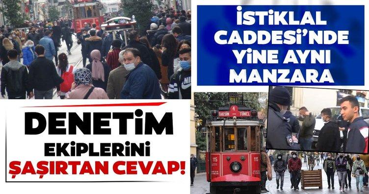 Taksim'de maskesiz dolaşan gençten şaşırtan...