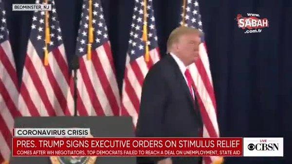 Trump çıldırdı... Kürsüyü terk etti | Video