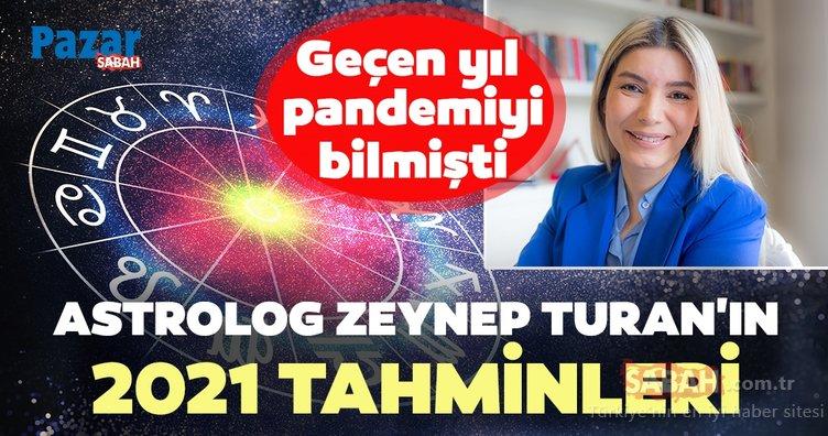 Geçen yıl pandemiyi bilmişti! Astrolog Zeynep Turan'ın 2021 tahminleri...
