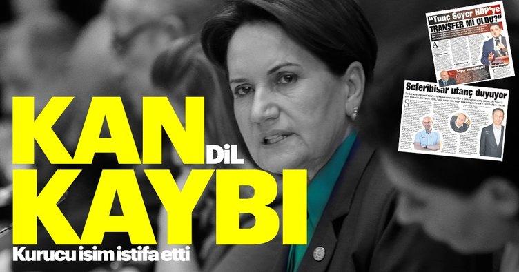 Son dakika: İYİ Parti'de şok istifa!