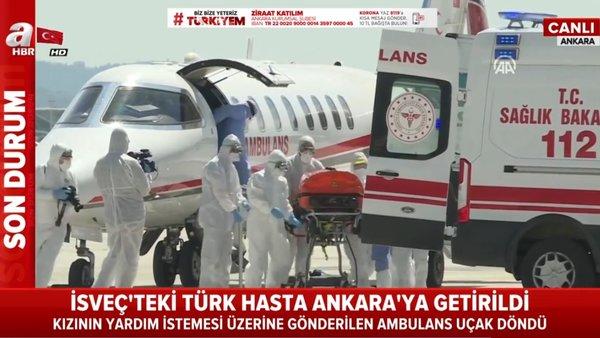 İsveç'te tedavi edilmeyen corona virüsü hastası Emrullah Gülüşken Türkiye'ye getirilerek tedavi altına alındı   Video