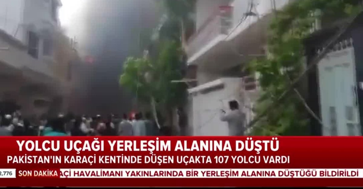 Pakistan'da yolcu uçağı düştü videosunu izle | Sabah TV
