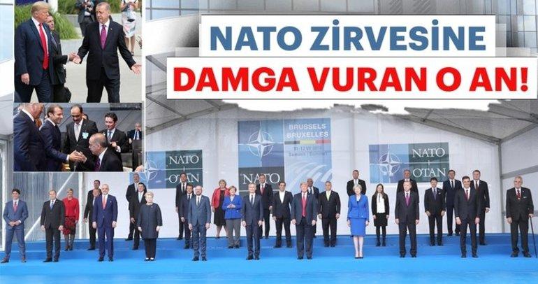 Başkan Erdoğanın da katıldığı NATO zirvesinden ilk kareler...