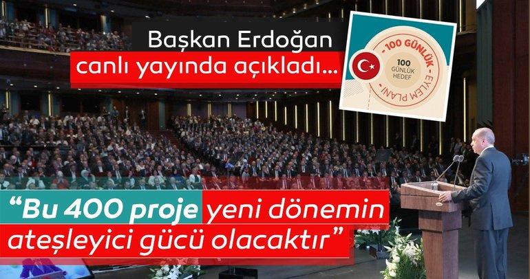 Son Dakika: Başkan Erdoğan Türkiye'nin 100 günlük eylem planını açıkladı!