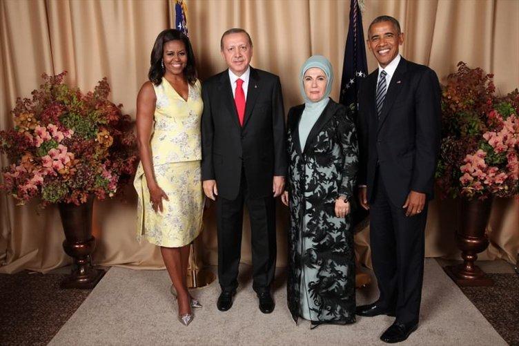 Erdoğan Obama'nın verdiği resepsiyona katıldı