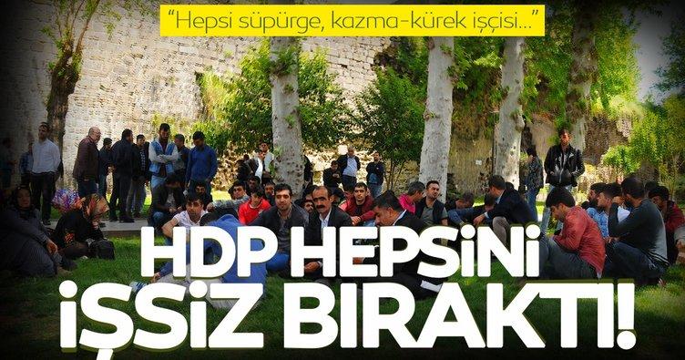 HDP'li Sur Belediyesi'nin işçi kıyımı sürüyor! 145 işçi eyleme başladı