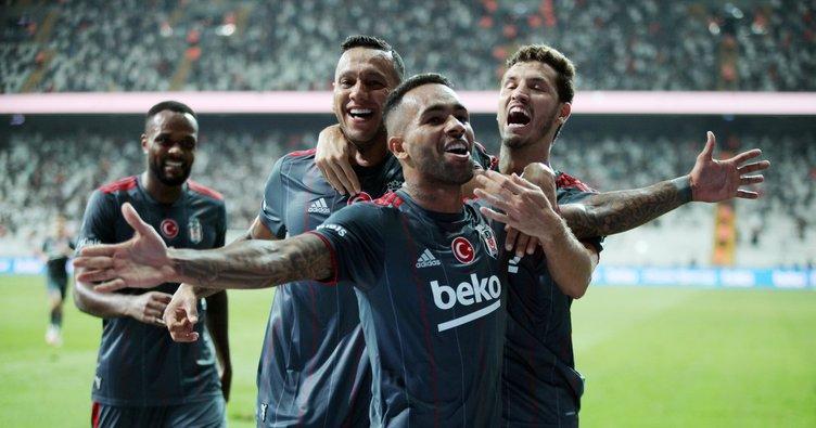 Son dakika: Alex Teixeira'dan müthiş başlangıç! Beşiktaş 10 kişiyle kazandı...
