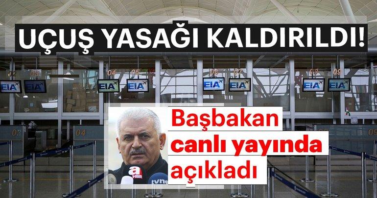 Son dakika: Başbakan Binali Yıldırım'dan açıklama: Erbil'e uçuşlar açılmıştır