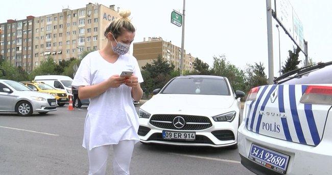 İstanbul'da tam kapanma denetimi! Genç kadın ceza yazan polisin plakasını aldı!