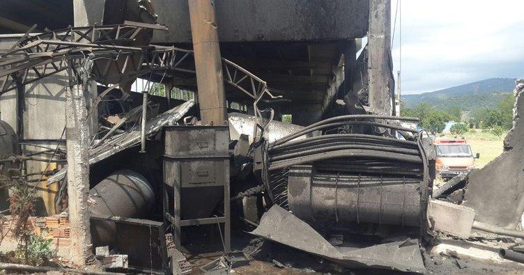 Susurluk'ta deri fabrikasında korkutan patlama