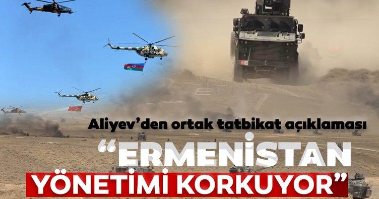 Aliyev'den ortak tatbikat açıklaması: 'Ermenistan yönetimi korkuyor'