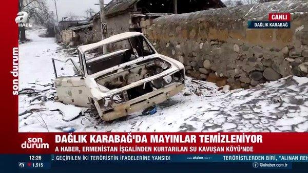 Ermenistan işgalinden kurtarılan köyden canlı yayın | Video