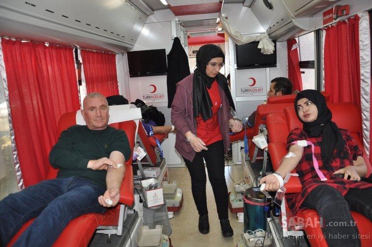 Kızılay'ın acil kan bağışı çağrısına destek