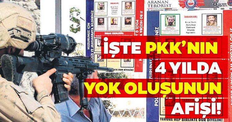 İşte PKK'nın 4 yılda yok oluşunun afişi!