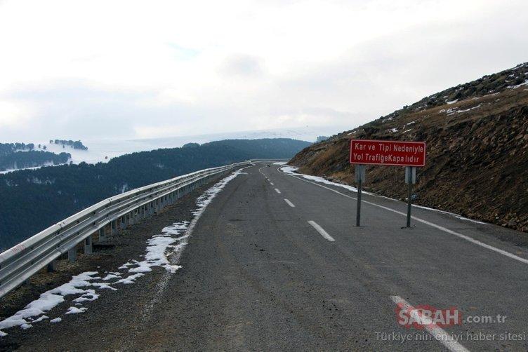 O yol kar ve tipi nedeniyle...