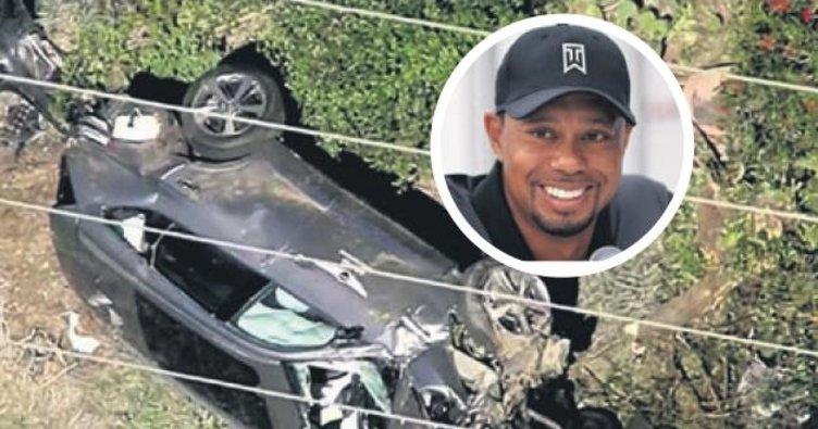 Tiger Woods'un aracı takla attı
