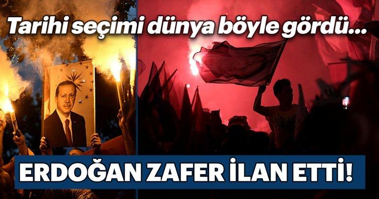 Türkiye'nin tarihi seçimi dünyada ilk haber