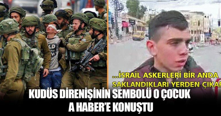 Filistin direnişinin sembolü Cuneydi A Haber'e konuştu