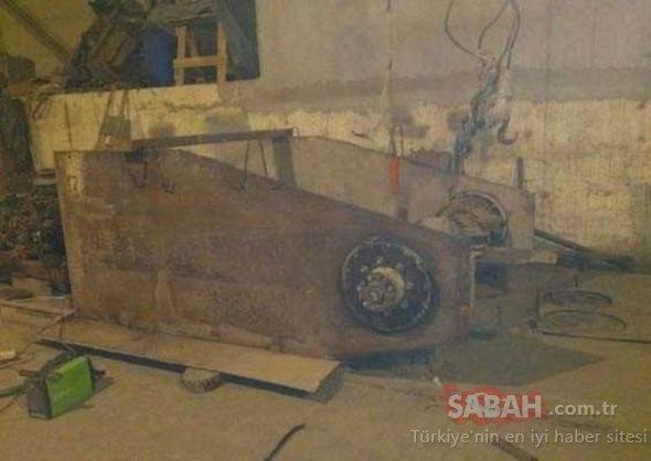 Evin garajında kendi tankını yaptı! Aracı görenler şaşkınlıktan ne diyeceğini bilemedi