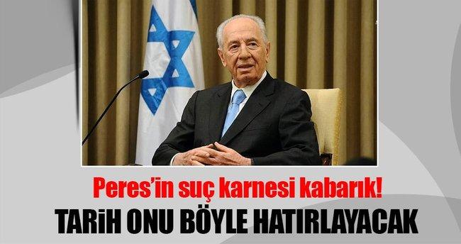 Peres'in suç karnesi çok kabarık