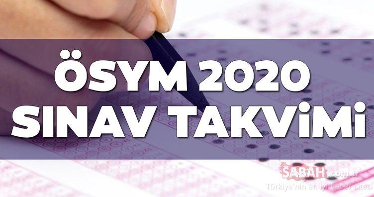 ÖSYM 2020 sınav takvimi yayınlandı mı? 2020 KPSS, LGS, YKS, ALES, DGS, YDS, MSÜ, YÖKDİL sınavı ne zaman yapılacak?