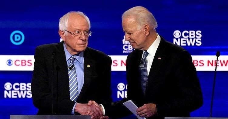 Joe Biden 6 eyaletin 4'ünde Bernie Sanders'a fark attı