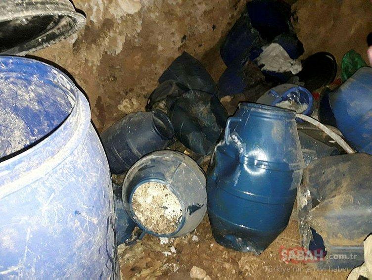 PKK terör örgütüne ait 2 sığınak ve çok sayıda malzeme imha edildi