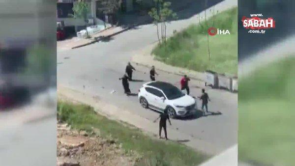 SON DAKİKA: İstanbul Başakşehir'de silahlı kavga dehşeti kamerada