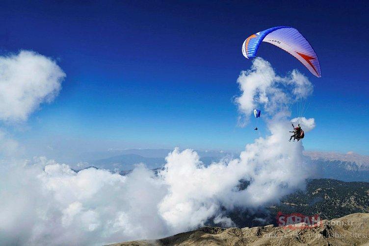 Tahtalı Dağı zirvesinden uçuşlar başladı