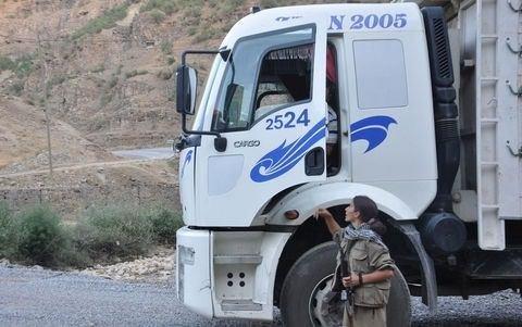 Kadın PKK'lının şoke eden görüntüsü